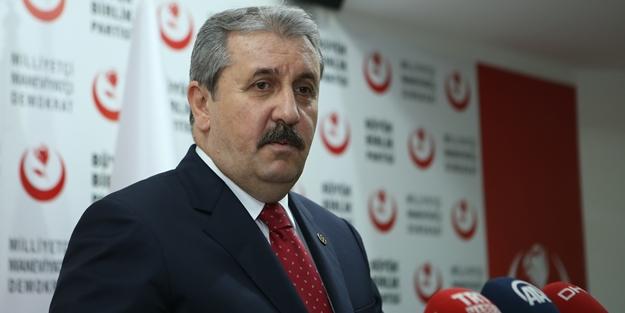 Mustafa Destici'den dikkat çeken çağrı: Her türlü tartışmayı yaparız ama bugün...