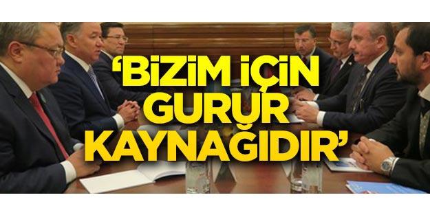 Mustafa Şentop: Bizim için gurur kaynağıdır