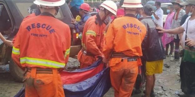 Myanmar'da yeşim taşı madeninde heyelan: 113 madenci hayatını kaybetti