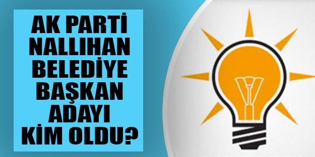 Nallıhan AK Parti belediye başkan adayı kim 2019 yerel seçim