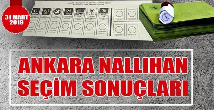 Nallıhan seçim sonuçları 2019 | Ankara Nallıhan 31 Mart yerel seçim sonuçları oy oranları