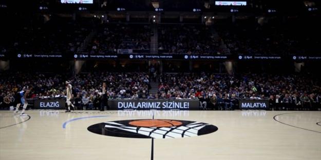 Elazığ depremini unutmadılar! NBA maçında panoya yansıttılar
