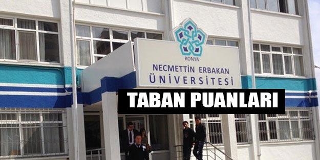 Necmettin Erbakan Üniversitesi taban puanları 2019