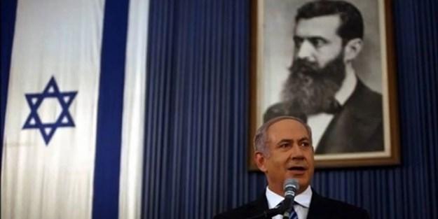 Netanyahu'nun arkasındaki resme dikkat!