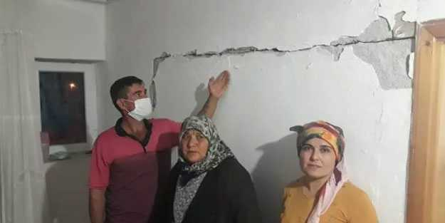 Niğde'deki depremde bazı evler hasar gördü