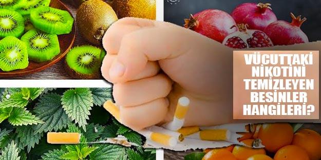 Nikotin temizleyen besinler neler? Vücuttan nikotin temizleyen iceceler neler?