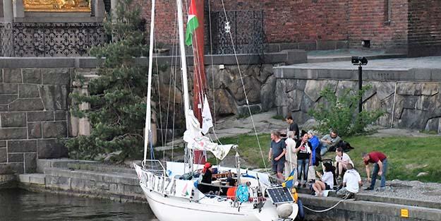 Norveçli ve İsveçli aktivistlerden balıkçı teknesi ile Gazze'ye yolculuk!