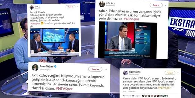 NTV SPOR'UN KAPANMASI SOSYAL MEDYA GÜNDE