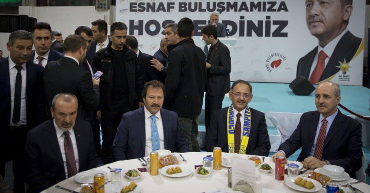 Numan Kurtulmuş ve Mehmet Özhaseki esnaflarla buluştu