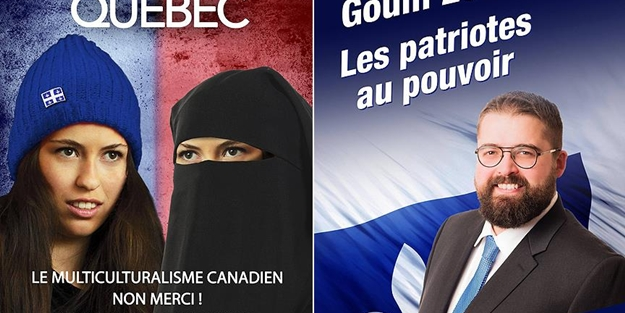 O ülkede ırkçı seçim afişi