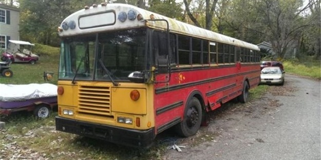 Okul otobüsünden ev yaptılar - FOTO