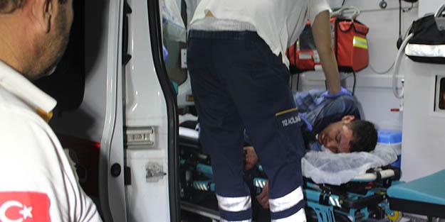 Olay çıkaran yaralı şahıs, hastaneye kelepçelenerek götürüldü