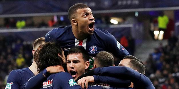 Olympique Lyon'u yenen PSG, Fransa Kupası'nda finale çıktı