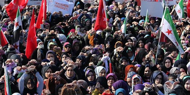 Onbinler meydanlarda buluştu! Suriye hapishanelerindeki kadın ve çocuklar serbest bırakılsın