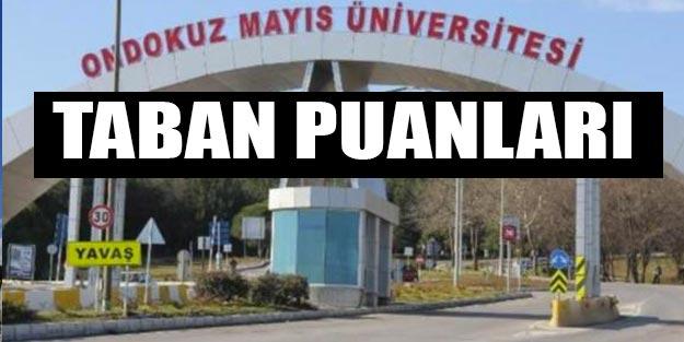 Ondokuz Mayıs Üniversitesi taban puanları 2019