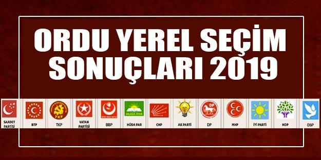 Ordu yerel seçim sonuçları 2019 | Ordu ve ilçeleri yerel seçim sonuçları 31 Mart Ordu Cumhur ittifakı Millet ittifakı oy oranları