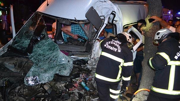 Ordu'da iki minibüs çarpıştı: 5 kişi yaralı