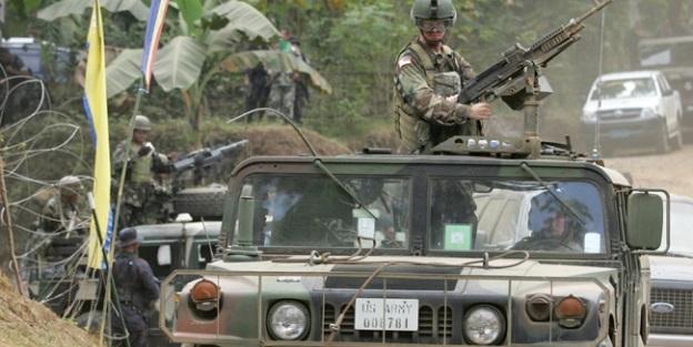 Orduya ait karagahı yaktılar... Çatışmalar var