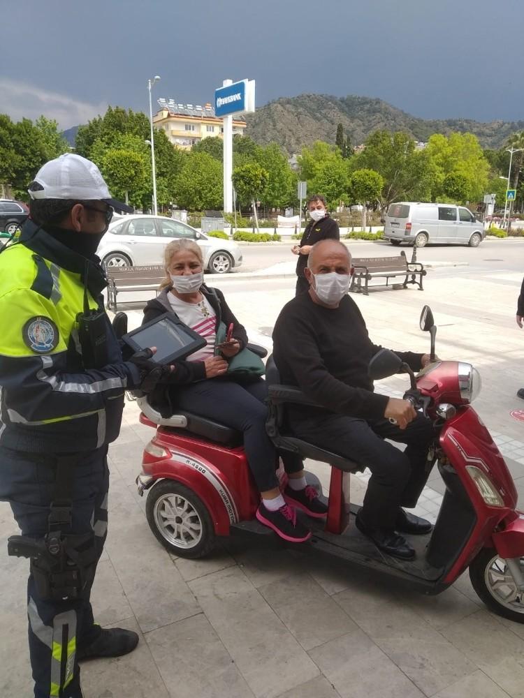 Ortaca'da Korona virüs önlemleri kapsamında motosiklet denetimi yapıldı