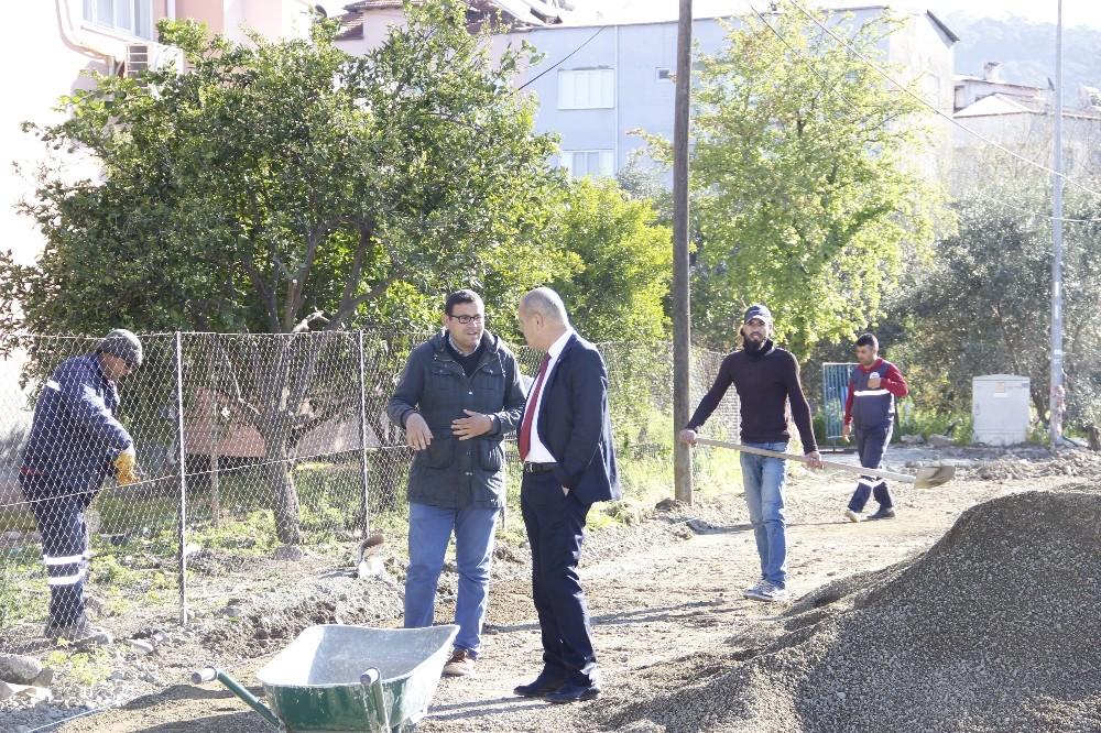 Ortaca'da parke çalışmaları aralıksız sürüyor