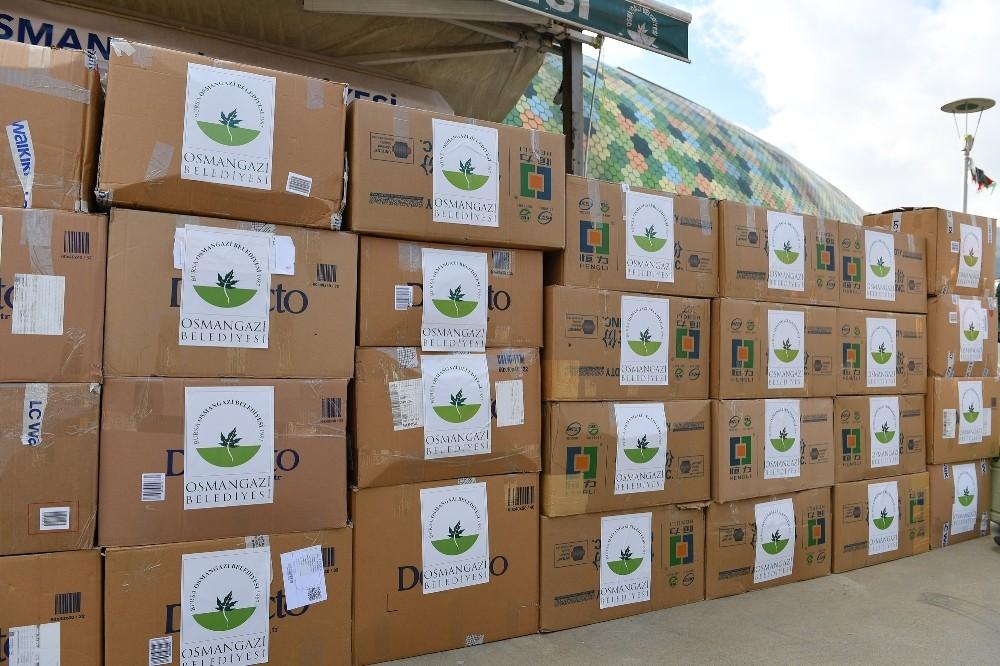 Osmangazi Belediyesi'nden depremzedelere yardım