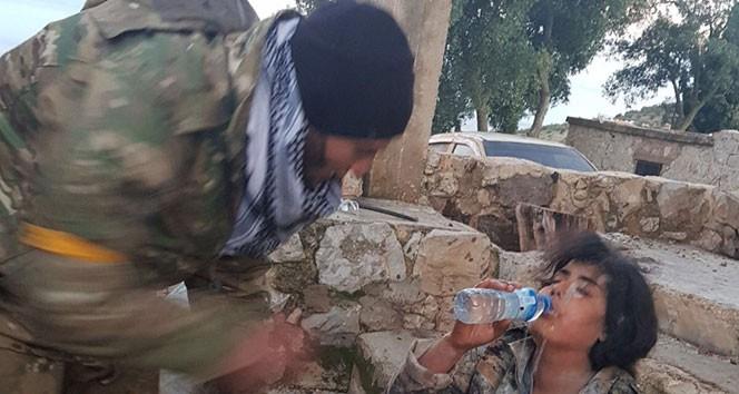 ÖSO ASKERİ YPG'Lİ TERÖRİSTE SU VERDİ!