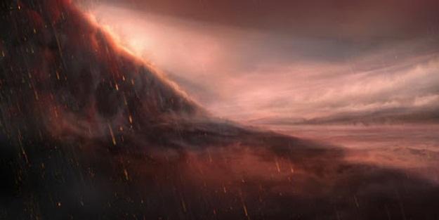 Öte gezegende gökten demir yağıyor