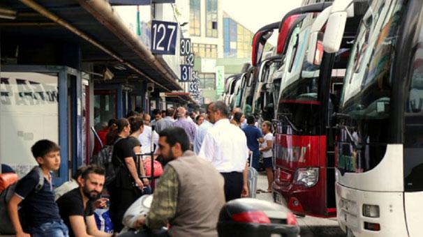 Otobüs biletlerinin yüzde 80'i satıldı