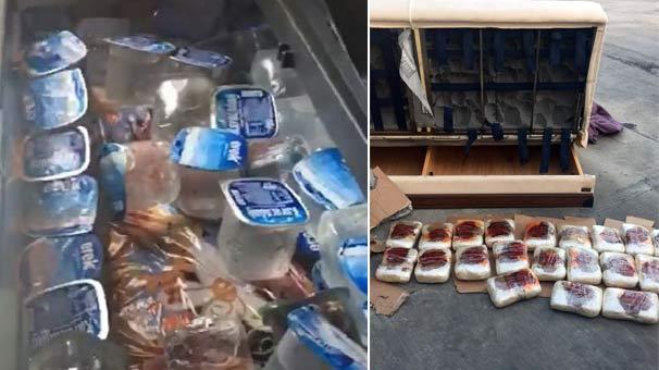 Otobüsün buzdolabından uyuşturucu çıktı