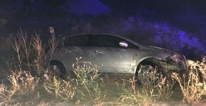 Otomobil fabrika bahçesine düştü: 4 kişi yaralı