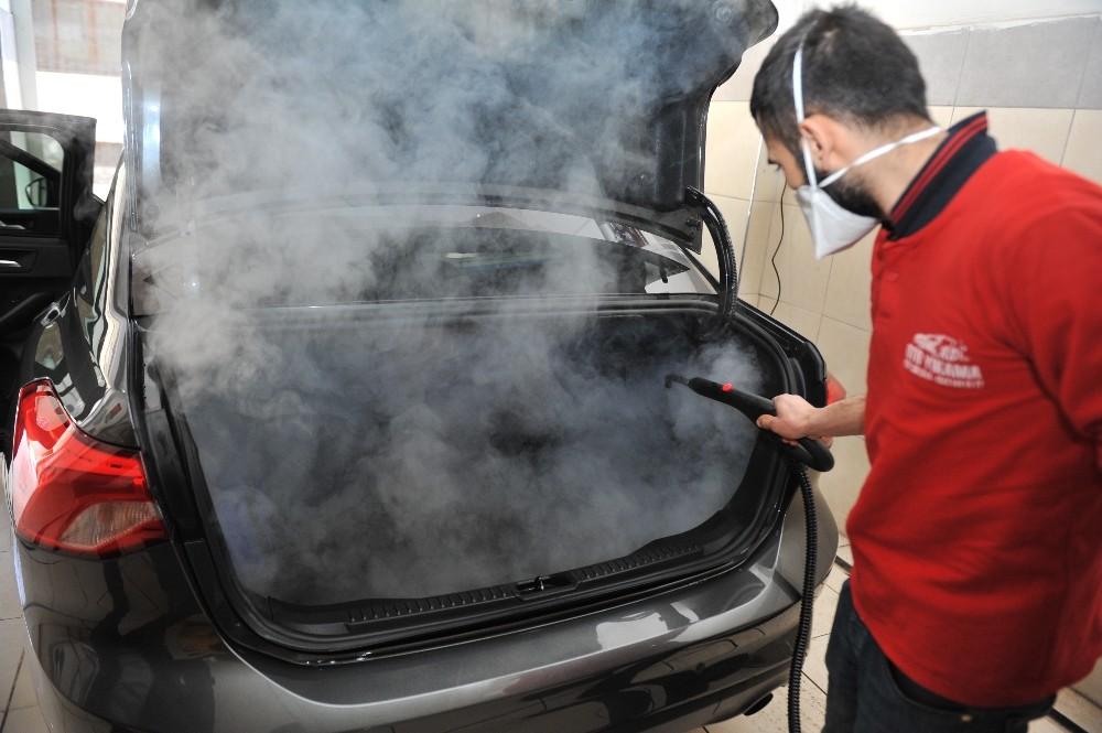 Otomobillere buharlı korona önlemi