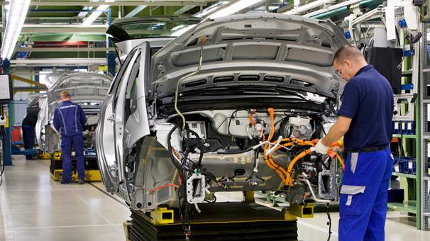 Otomotiv üretimi martta yüzde 1 yükseldi
