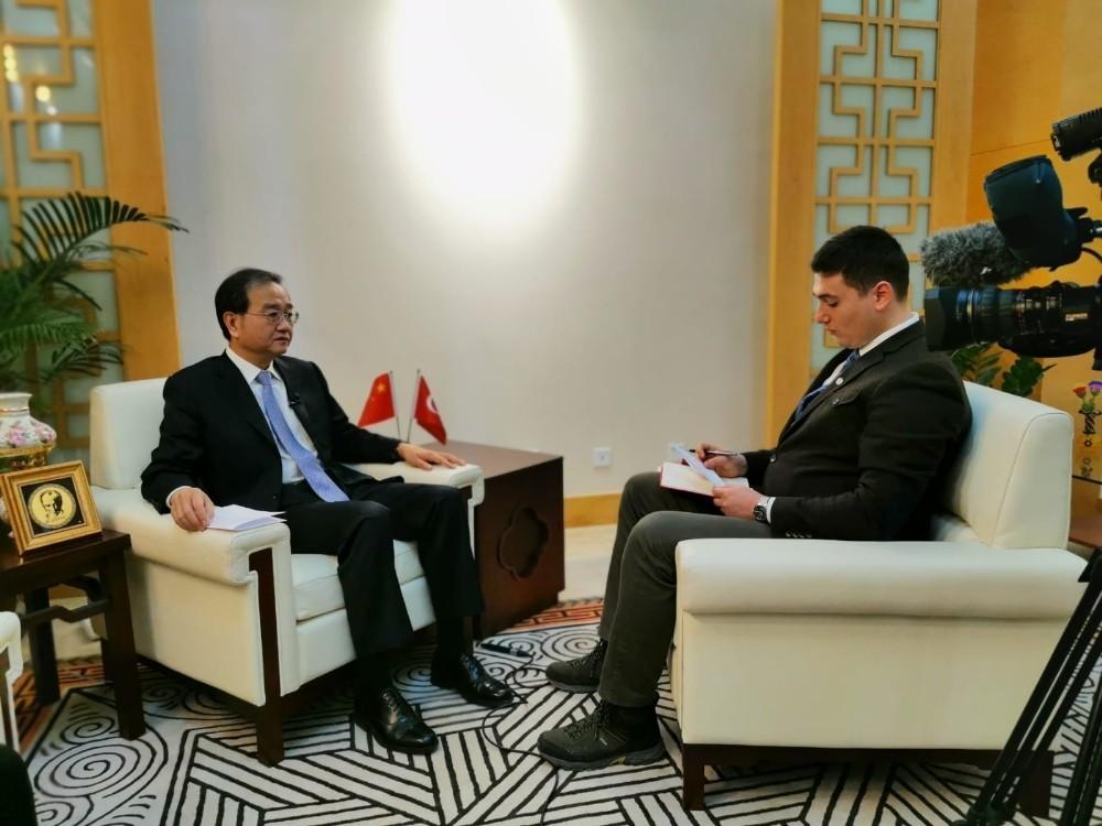 """(Özel) Çin Büyükelçisi Li: """"Toplamda 2 bin 6 vatandaşımız hayatını kaybetti"""""""