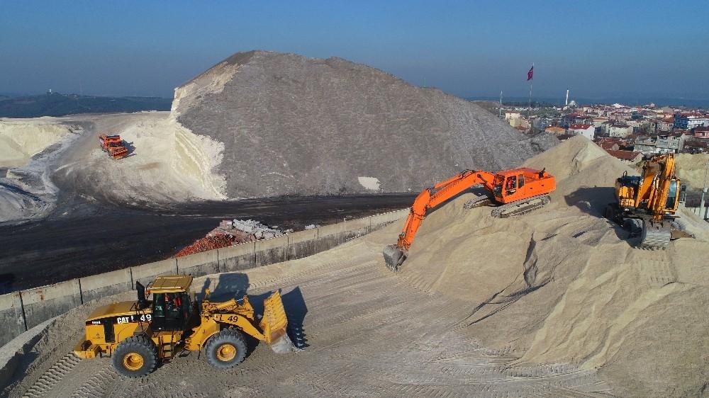 (Özel) İstanbul'daki tuz dağları hazır bekliyor
