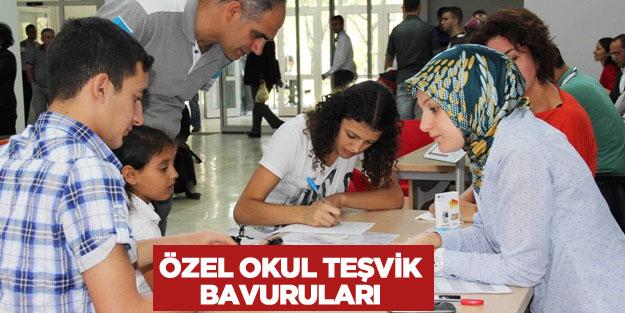Özel okul teşvik başvuruları başladı mı 2018-2019