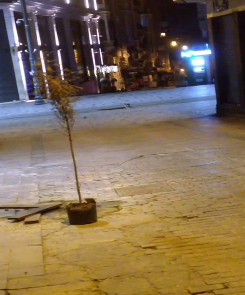 (Özel) Taksim'de yasak sonrası Tom Jerry çizgi film gerçek oldu