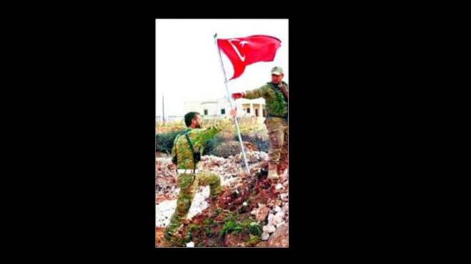 Özgür Suriye Ordusu, köye Türk bayrağını dikti