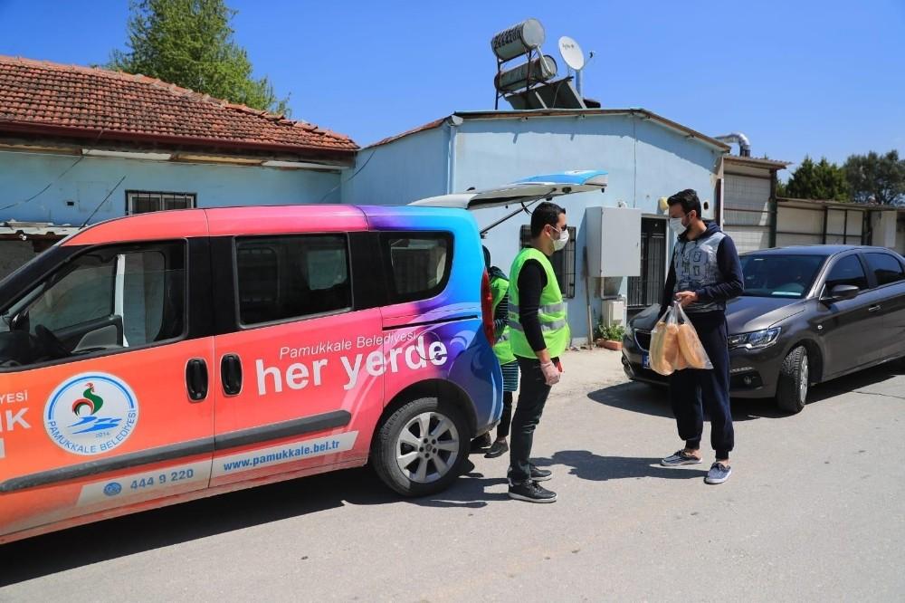 Pamukkale Belediyesi dezenfekte çalışmalarına devam ediyor