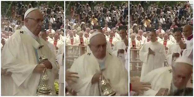 Papa böyle yere kapaklandı - VİDEO