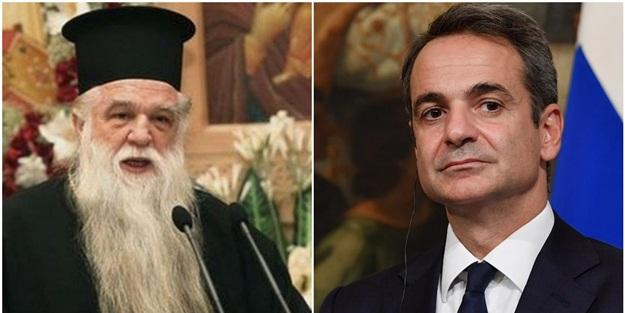 Papaz, Yunanistan Başbakanı Miçotakis'i aforoz etti