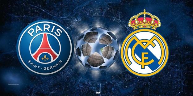 Paris Saint-Germain Real Madrid Şampiyonlar Ligi maçı saat kaçta hangi kanalda?