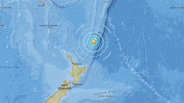 Pasifik Okyanusu'nda 6.9 büyüklüğünde deprem meydana geldi