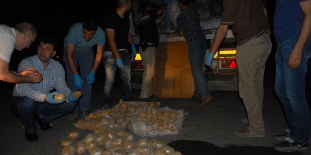 Patates çuvallarından 150 kilo eroin çıktı