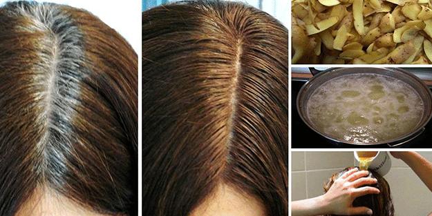 Patates kabuğunu saçlarınıza sürerseniz... Hemen etkisini gösteriyor