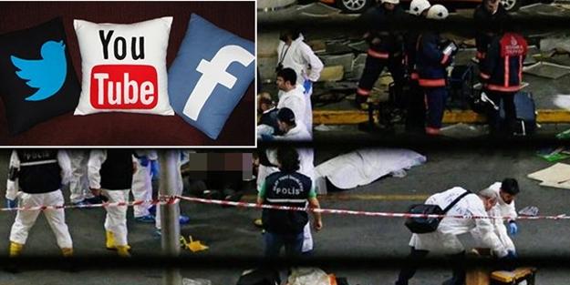 Patlama sonrası sosyal paylaşım sitelerinde sorun!