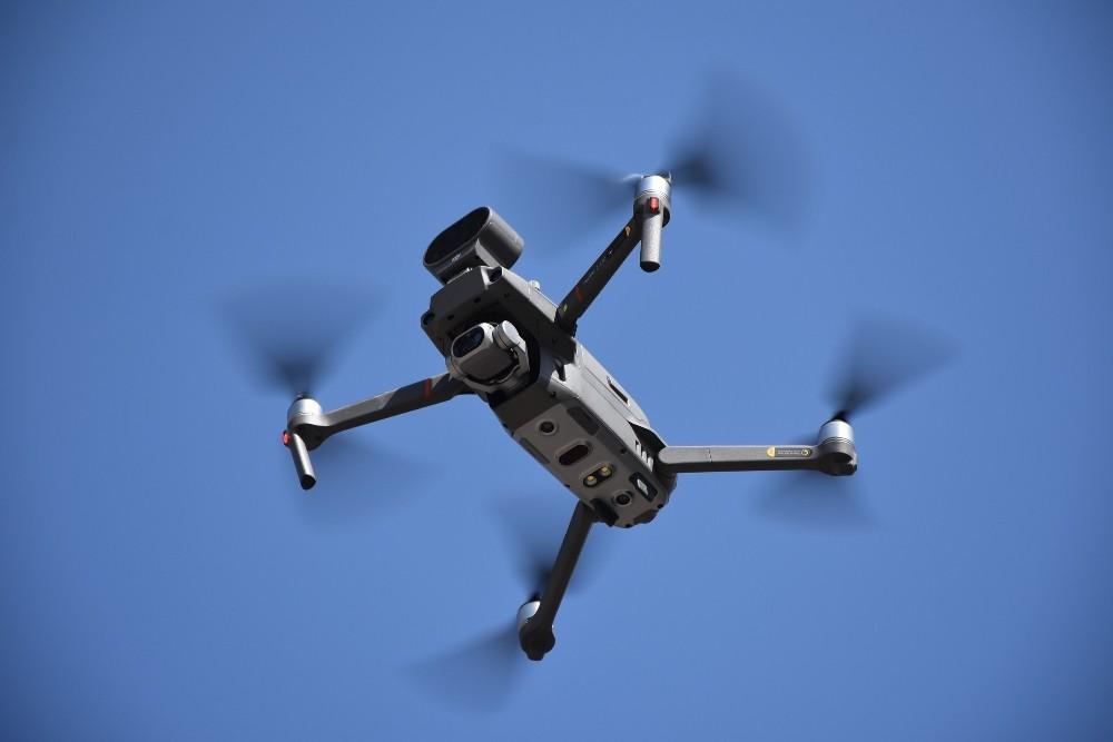 Pazaryerinde drone ile ateş ölçümleri devam ediyor