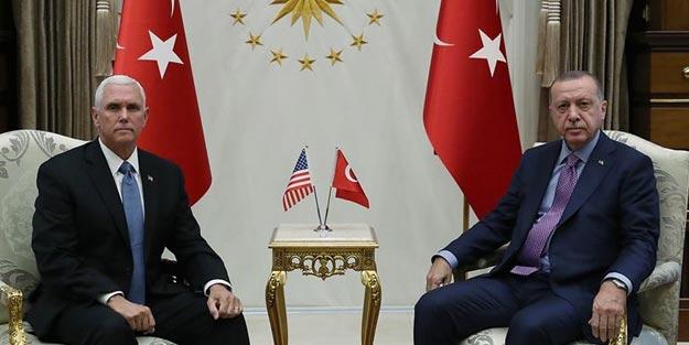 Pence Erdoğan ile görüşmesi sonunda ne dedi? ABD başkan yardımcısı Pence son dakika açıklaması