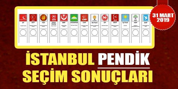 Pendik yerel seçim sonuçları 2019 | İstanbul Pendik belediye seçim sonuçları oy oranları