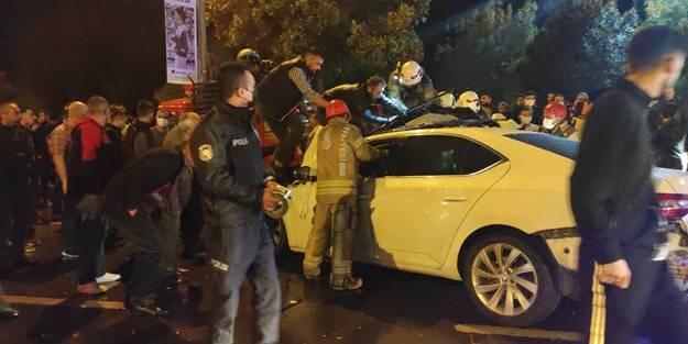 Pendik'te kaza: 2 yaralı