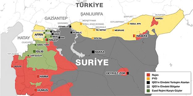 Petrole yeni harita